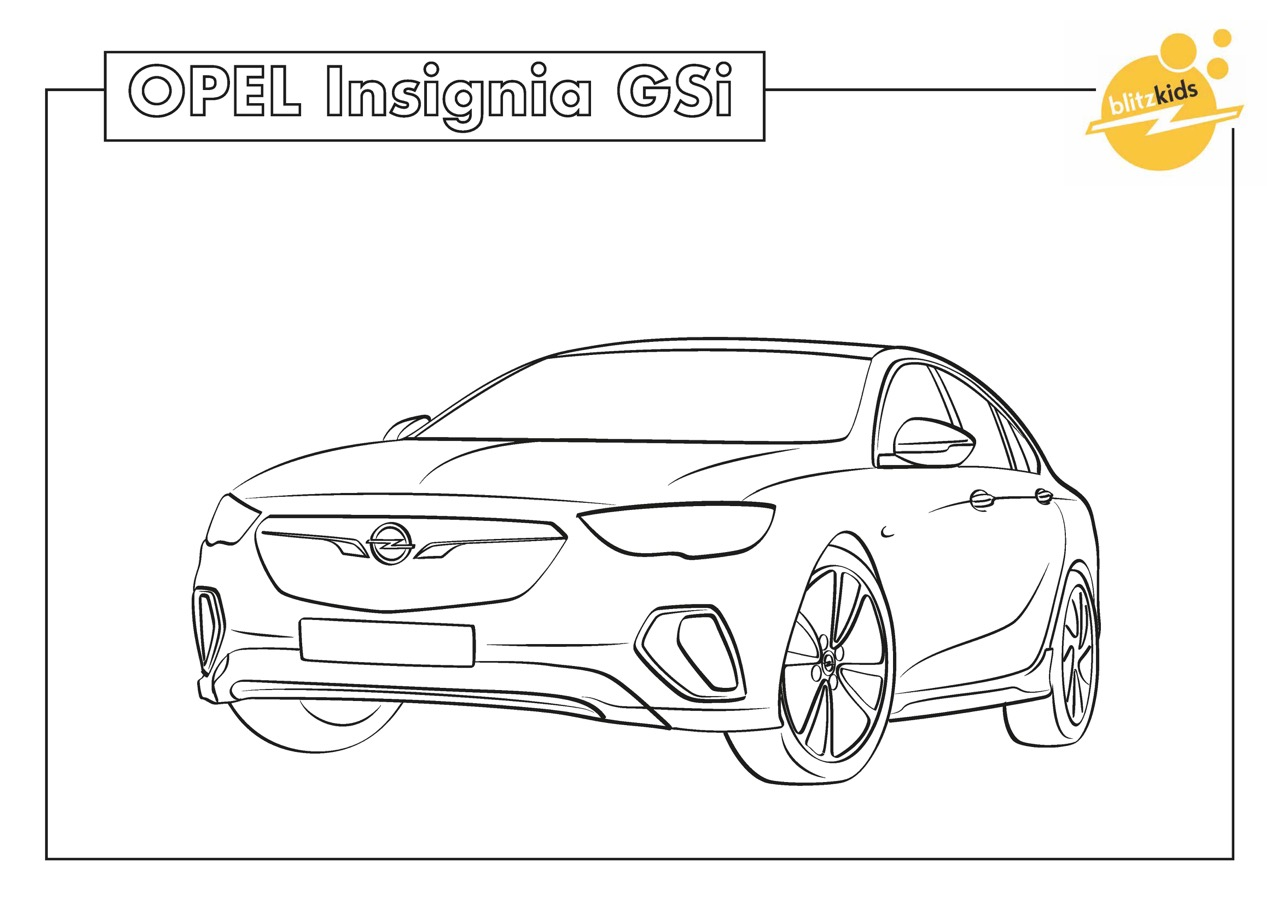 Cars Ausmalbilder : Opel Car Coloring Pages Worksheet Coloring Pages